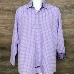 English Laundry Purple Long Sleeve Shirt 16 32/33